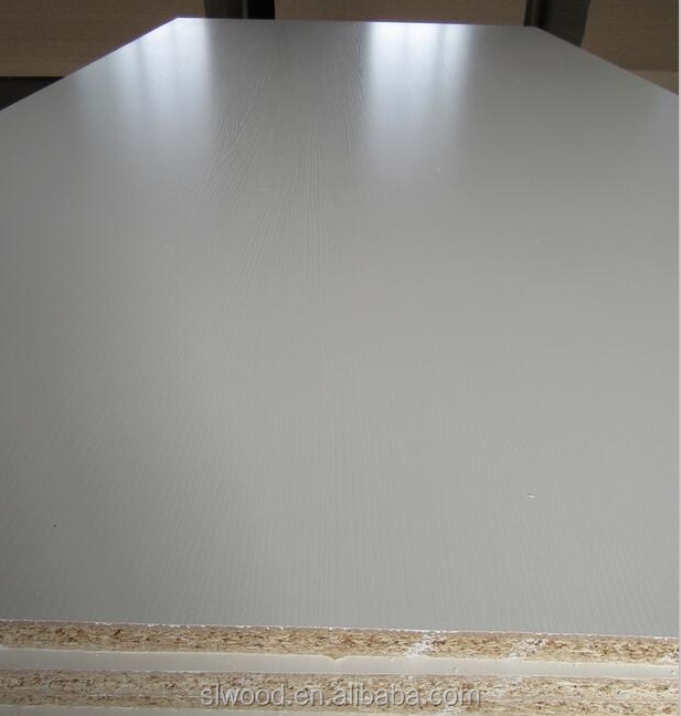 Hot sale 9mm high-density finished laminated white particle board for carbinet
