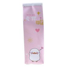 Креативный футляр для карандашей из искусственной кожи, чехол с имитацией молочной коробки, милый пенал, чехол кавайные канцелярские школь...(Китай)
