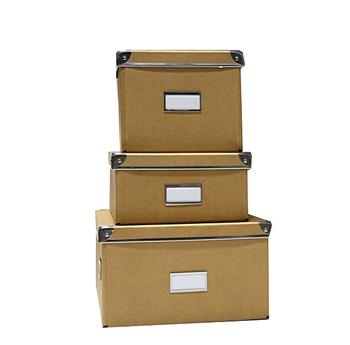 Metal Corner Foldable Cardboard Storage Box