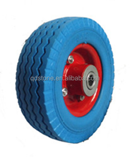 6*2 inch non pneumatic PU casters for shopping carts