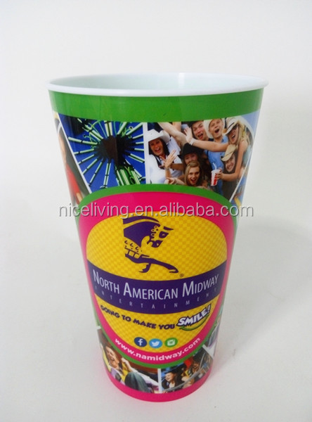 promotional plastic cup with smooth IML