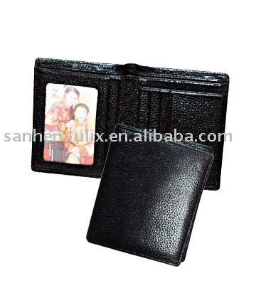 Genuine Leather Men's Wallet with Many Pockets