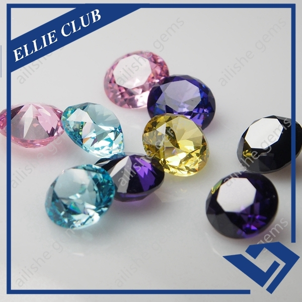 thick waist side round different colors china cz stone