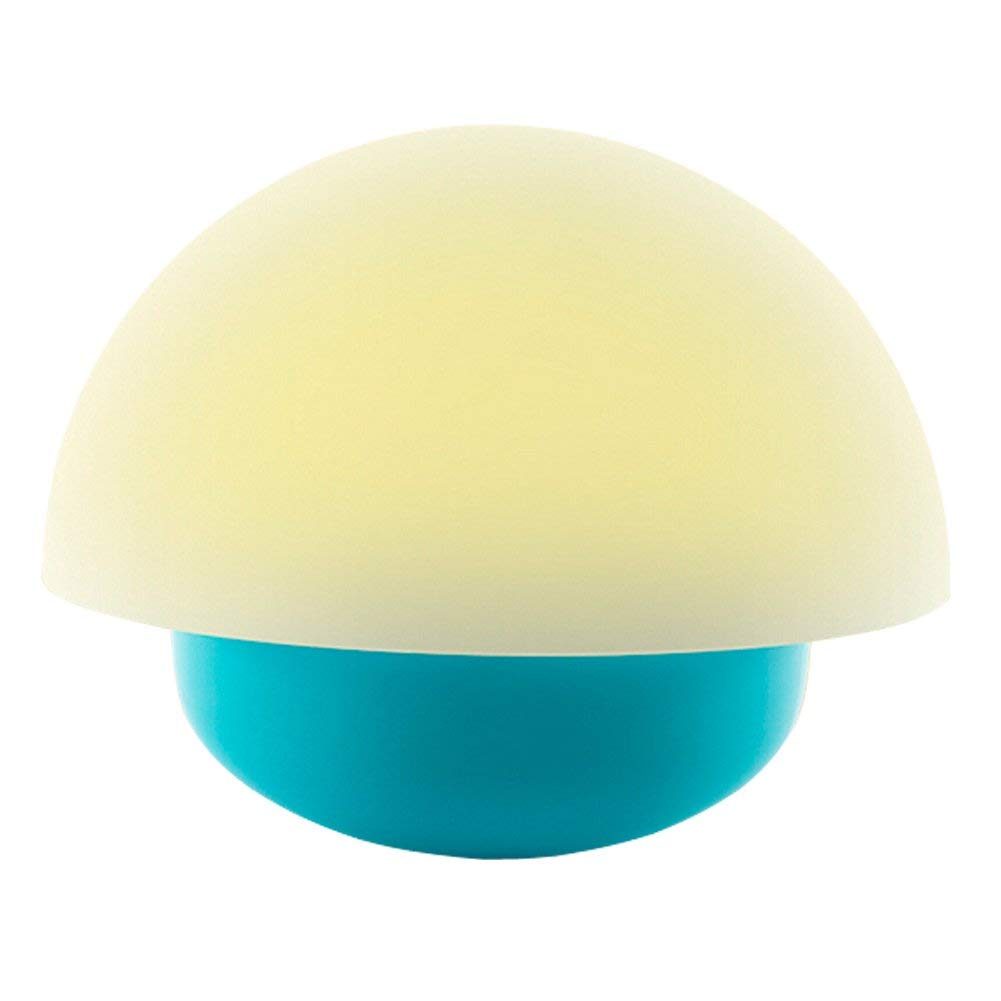 LEDHOLYT 1w LED RGB Touchable Mushroom Lamp Outdoor Indoor Ambience Camping Travel Desk Light Blue Shell Battery USB Power