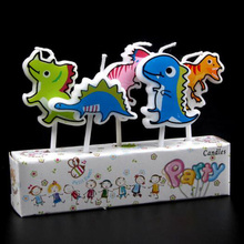 Happy birthday dinosaur birthday cake topper candle party supplies