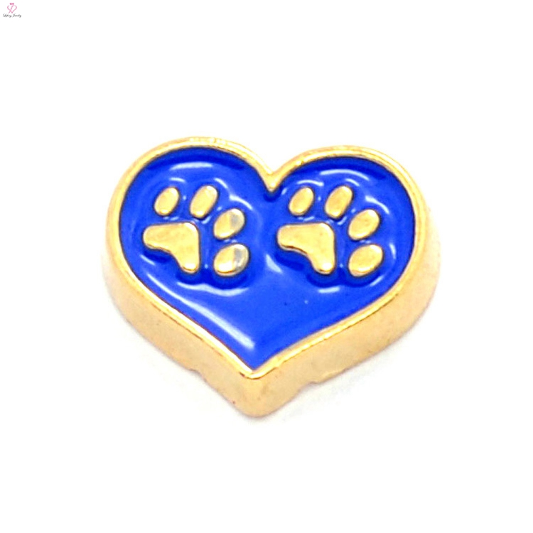 wholesale paw print charms,locket charms zinc alloy fashion design metal,running charms
