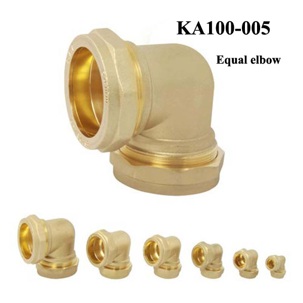 Factory Provide Pipe Fitting 45 degree copper Equal female Elbow connector