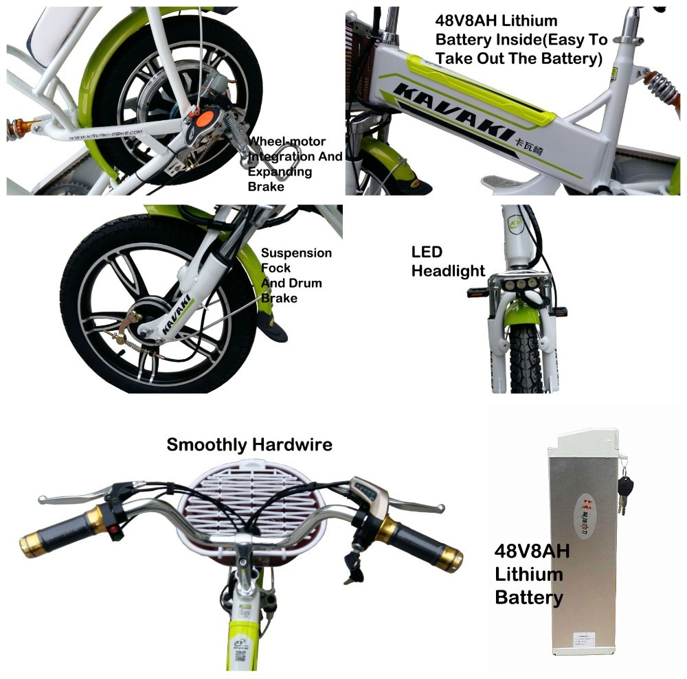 Kavaki Light Weight Aluminium 48v Electric Bicycle 16 Inch