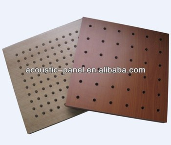 wooden perforated interior wall panels