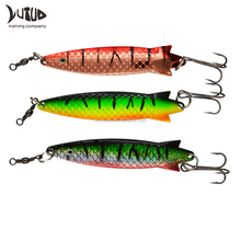 Saltwater Freshwater Metal Fishing Baits Casting Trolling Metal Bass Spoon Fishing Lure Colorful