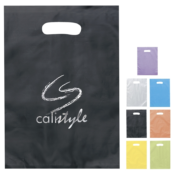 Cost Effective Durable Custom Modern Style Patch Reinforced Die Cut Handle Plastic Packing Bag Recycling