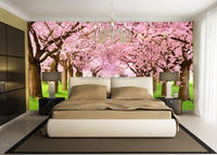 3D Wallpaper Mural with forest design for home wall decoration