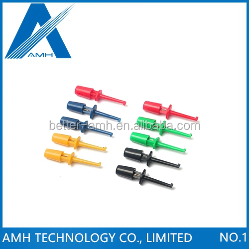 10pcs Multimeter Test Lead Probe Cable Wire Kit Test Hook Clip Connector Grabbers for SMT SMD Welding Work Tools