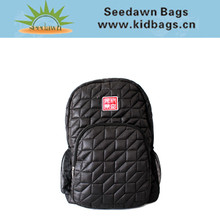Simple Structure Space Cotton Quilted Backpack with Sponge Sewn