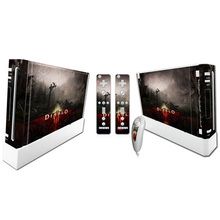 Cool Design Vinyl Skin Sticker Protector for Nintendo for Wii and controller skins Stickers for wii Console
