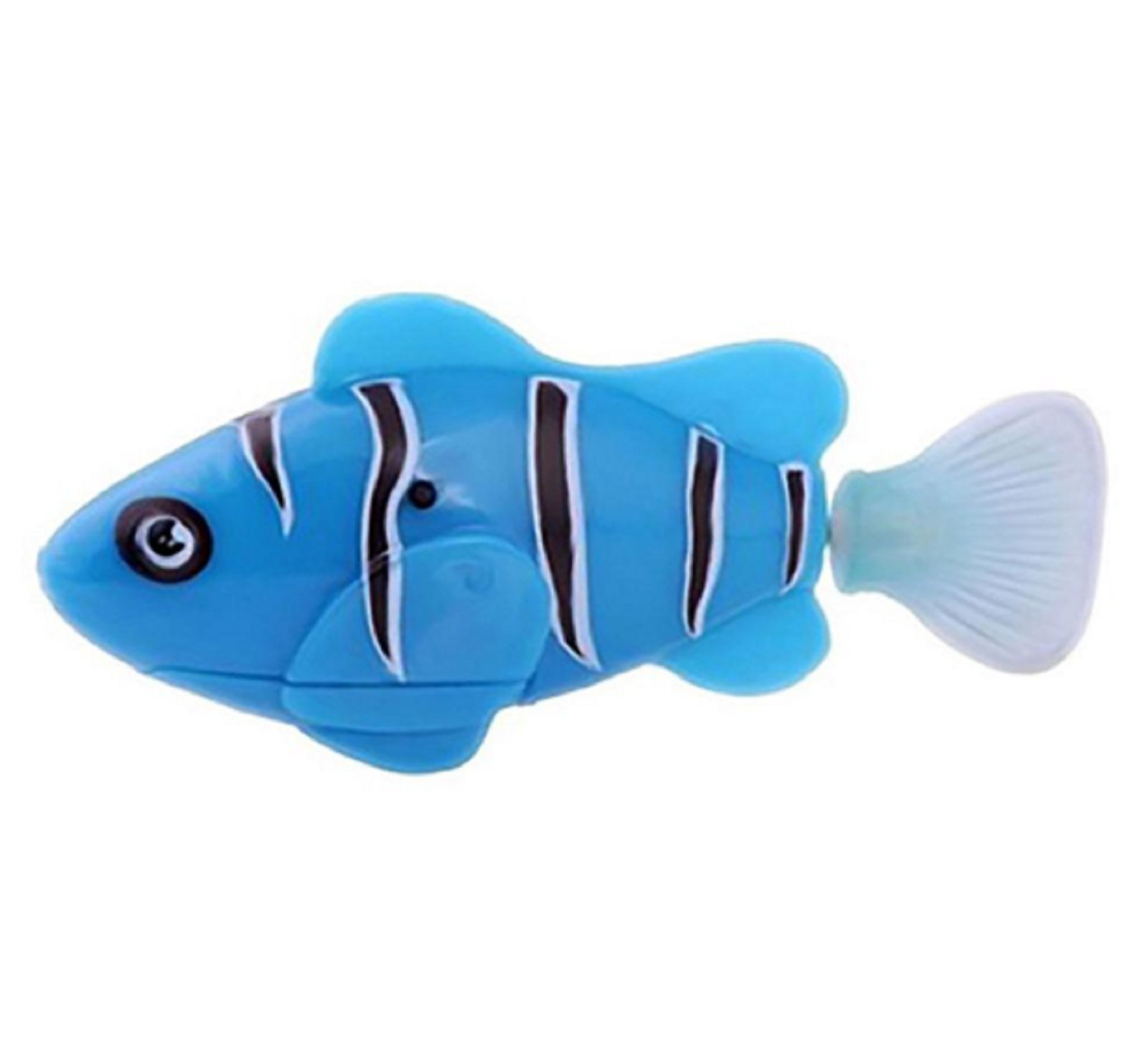 New Arrival Funny Swim Electronic Robofish Activated Battery Powered Robo Toy fish Robotic Pet for Fishing Tank Decorating Fish (Blue Color)