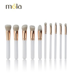 2018 Professional Private Label Eye Shadow Face Foundation Cosmetic Makeup Brush 10 Piece Makeup Brush Set