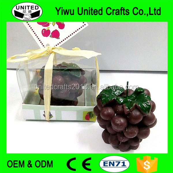 Beautiful different fruit shaped wax candles for valentine's day