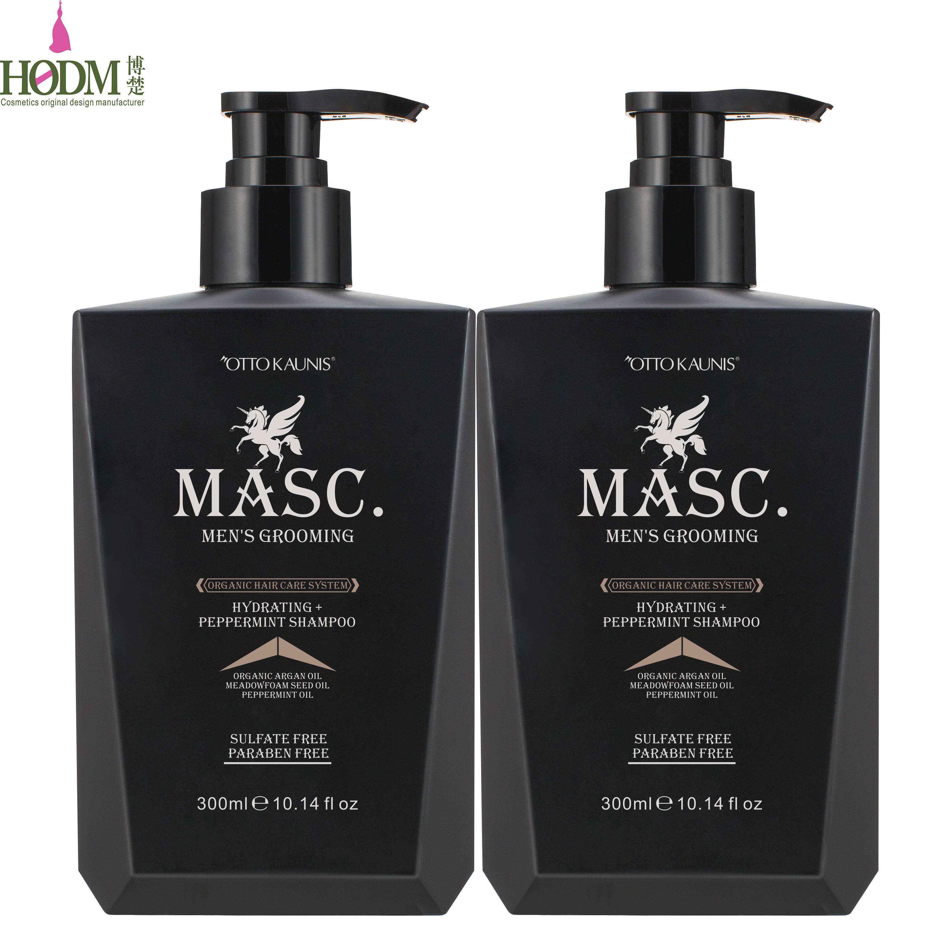 Private Label MASC. mens grooming idratante olio di menta piperita mens shampoo