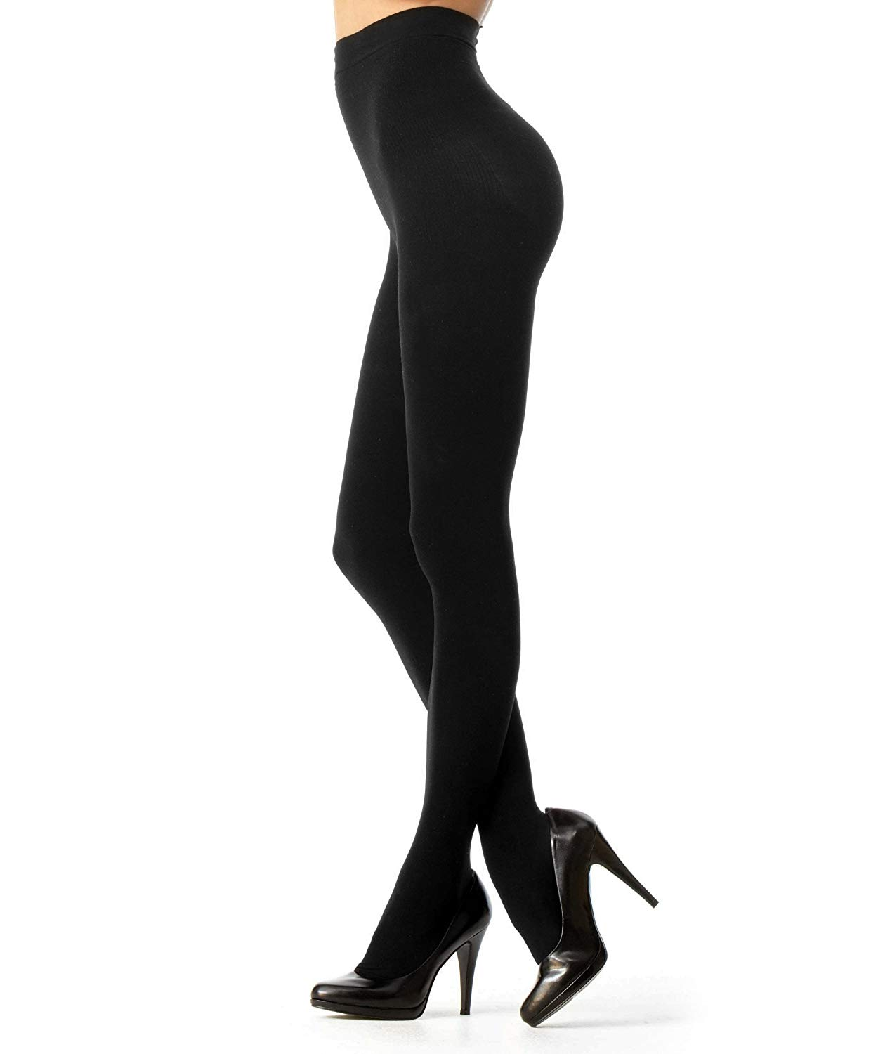01208fb99cb Get Quotations · Melas Microfiber Opaque Shaper Tights