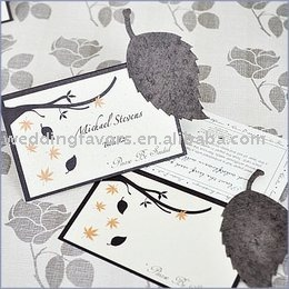Leaf Plantable Seed Wedding Place Cards