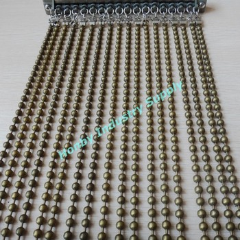 Interior Standard 6mm Size Bright Silver Color Metal Beaded Curtain Wall