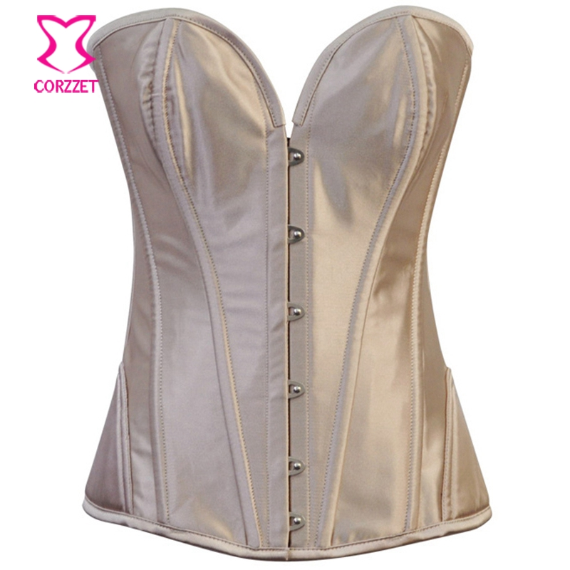 Steel Boned Overbust Corset,Women black purple white beige Red Satin Spiral Steel Bustier top,Waist Training Gothic Corselet