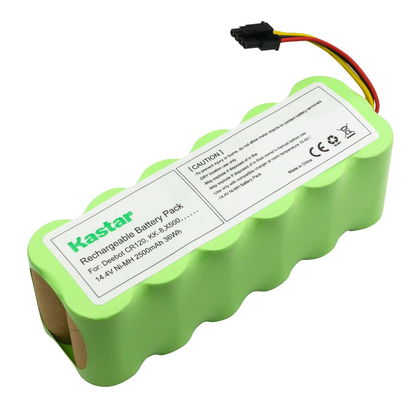 Kastar CR120 Battery (1 Pack), Ni-MH 14.4V 2500mAh, Replacement for Deebot CR120, KK-8, ECOVACS X500, LP43SC2000P