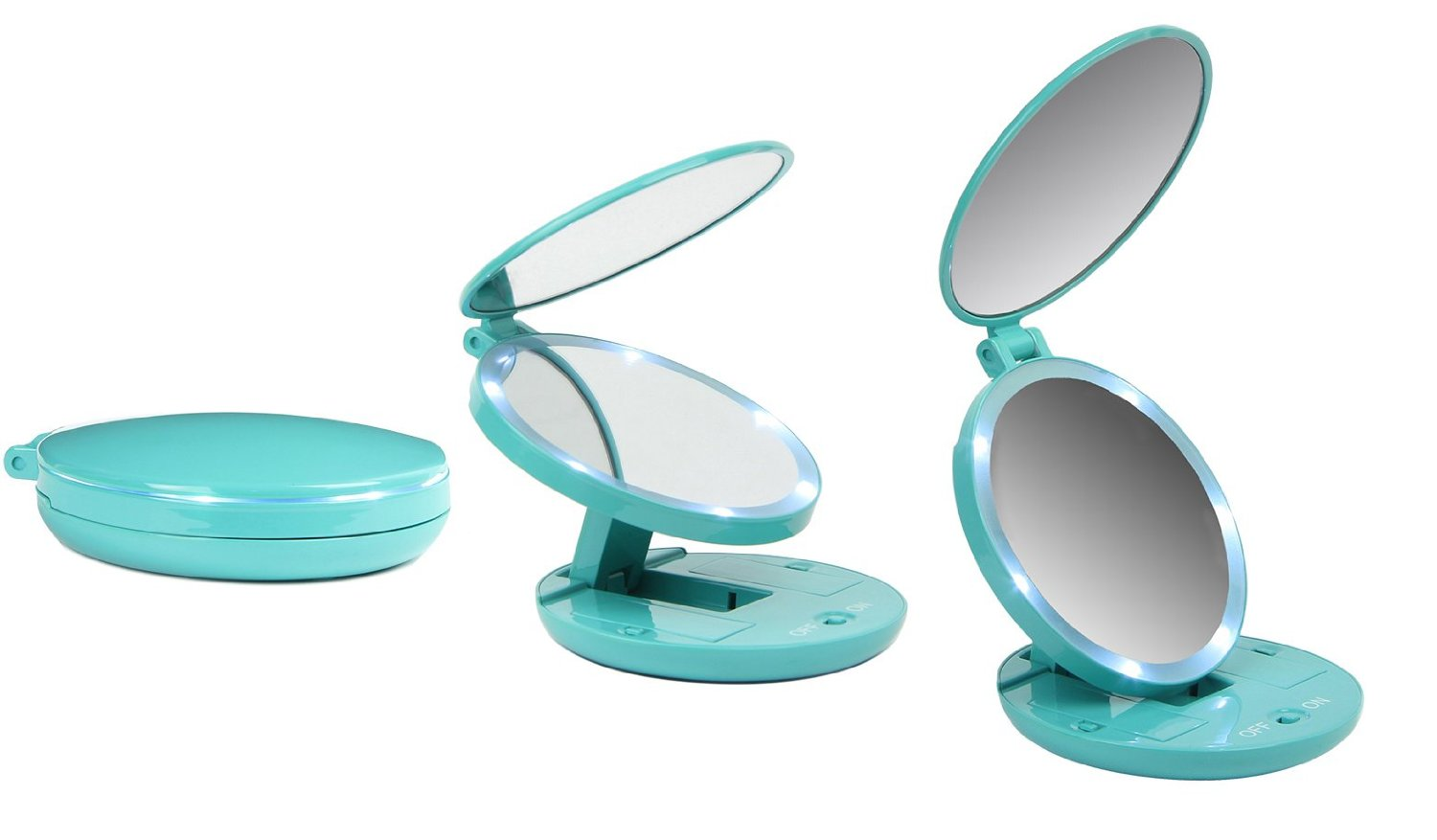 Buy Facsmile Lighted Travel Mirror 5x Magnifying With
