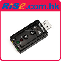7.1 Channel Virtual External Audio 3D 12Mbps Mini PC Mic USB Sound Card Adapter