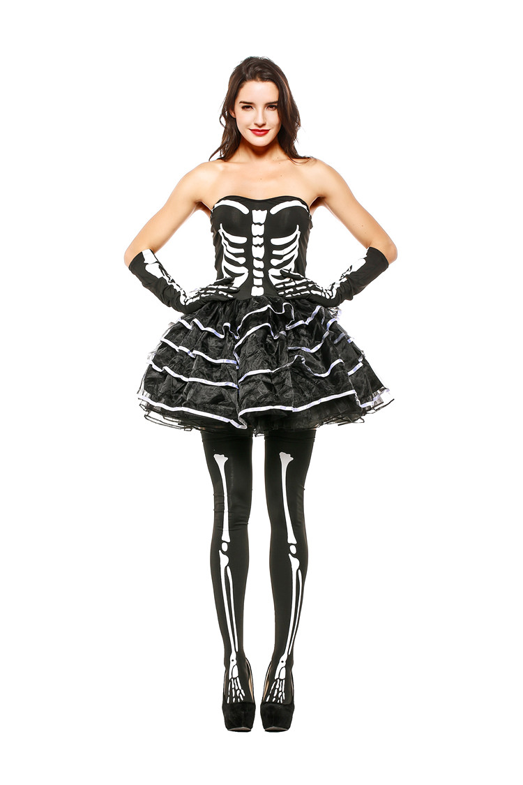 hot dance costume skeleton china direct women sexy costumes