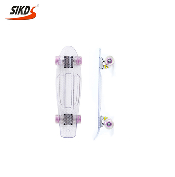 Wholesale plastic cruiser skateboard 22inch transparent skateboard longboard