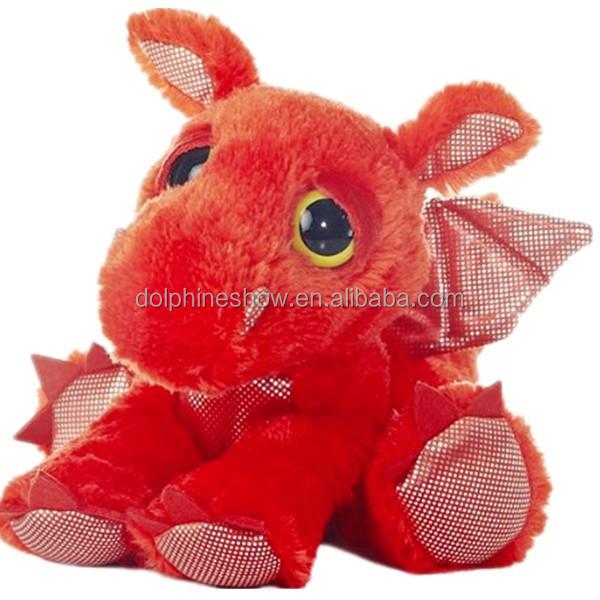 2015 Big Eyes Soft Toy Plush Stuffed Red Cute Dragon Plush Toy