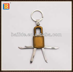 4 In 1 Lock Shape Multi Gift Knife With Key Ring For Advertising