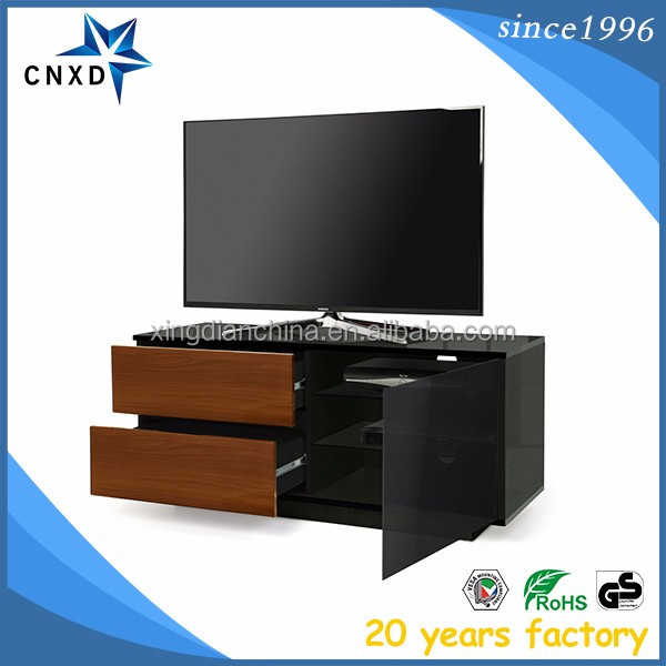 Customize design living room tv unit design for hall with showcase