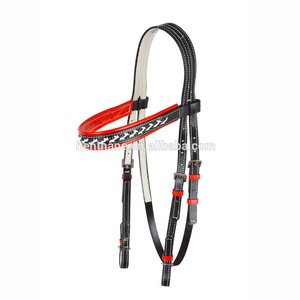 High Tensile Leather Colorful Horse Bridle for Racing