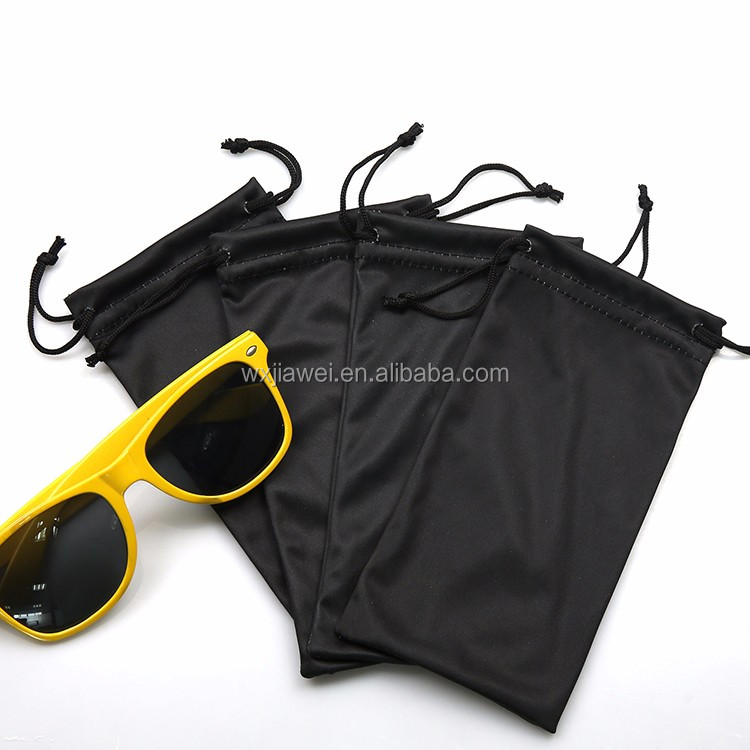 Easy Clean microfiber drawstring eye glass pouch with low price