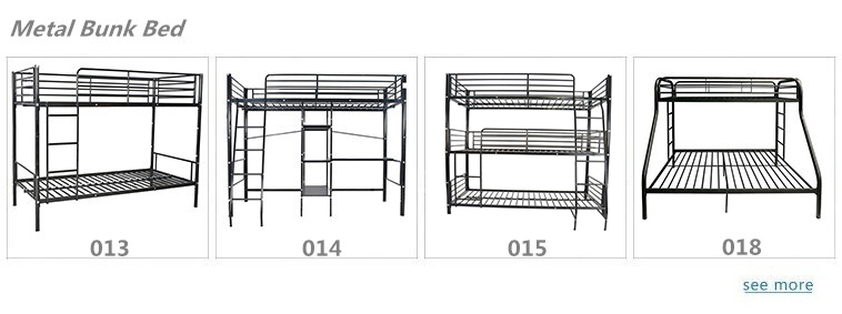 Free Sample Mika Metal Twin Vanilla Box Spring Slats Steel Single Bunk Bed