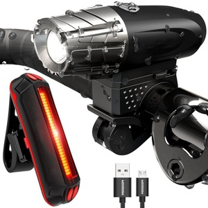 USB Rechargeable Powerful 200ML LED Front Rear Bike Light