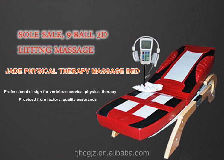 wooden base massage bed customized