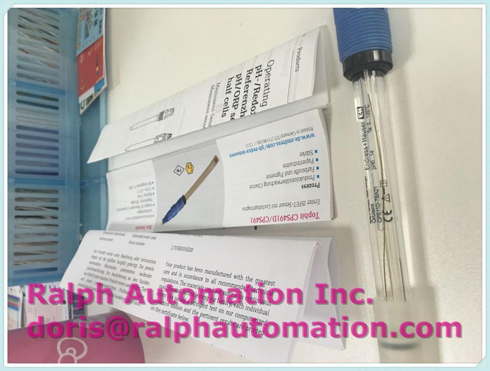 Endress Hauser Digital Ph Sensor Cps11d 7ba21 In Stock