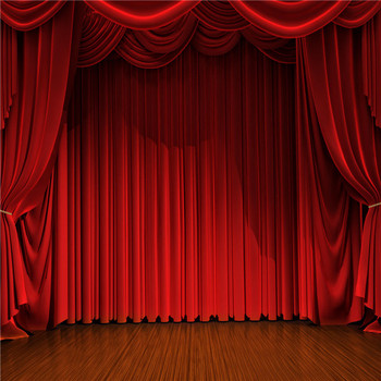Blackout Velvet Fabric Motorized Stage Curtain Made In
