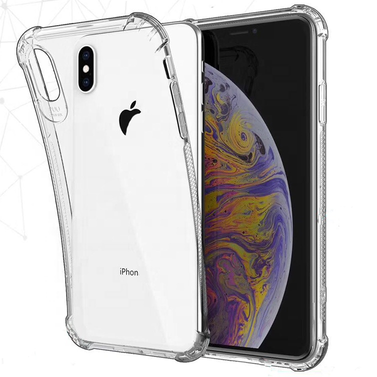Shockproof Armor Case For iphone X XS Transparent Soft Case Cover For iphone Phone Case Anti-dust Anti-Shock Non-Slip