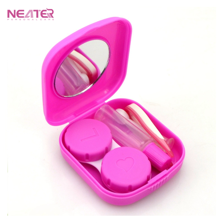 Pocket Mini Cute Travel Kit Contact Lens Case Box with Mirror for Sale