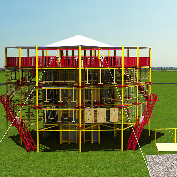 New Style Adventure Rope Course Amusement Park Indoor And Outdoor Structure