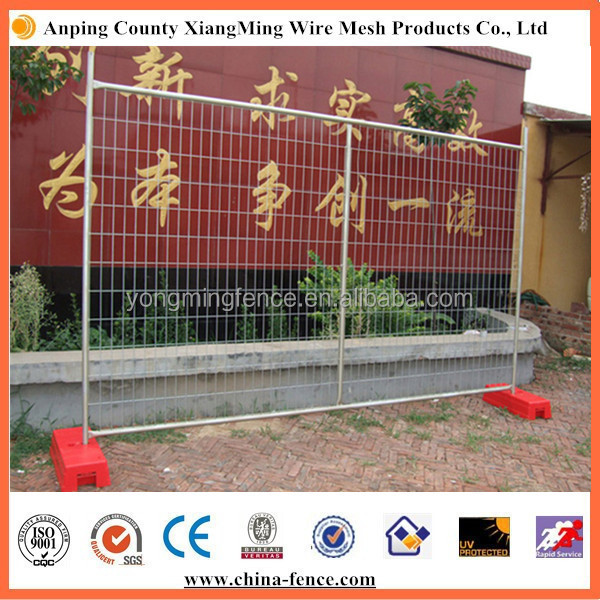 2016 hot sale used in construction removable galvanized temporary fence with plastic feet for Australia