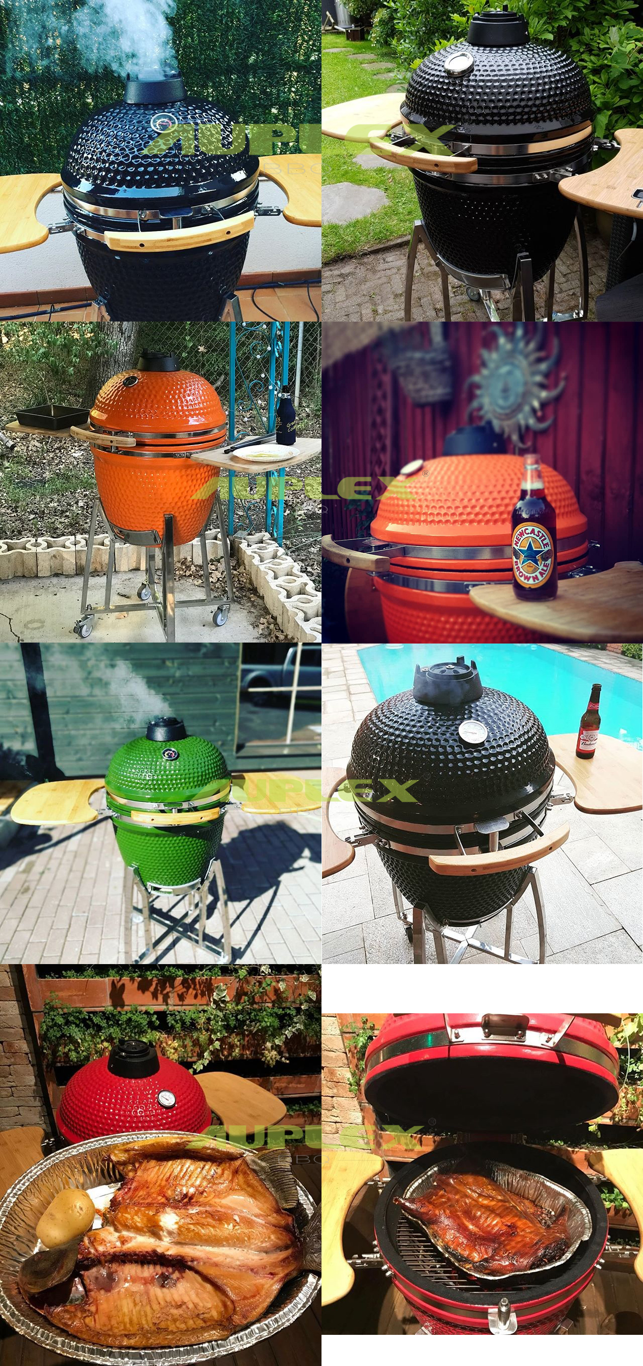 Garden Furniture Outdoor 21 Inch Used Kamado Big Egg With Cart