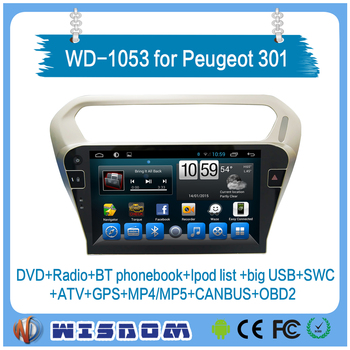Wd-1053 Wisdom Peugeot 301 Car Stereo With Car Radio Gps Touch ...