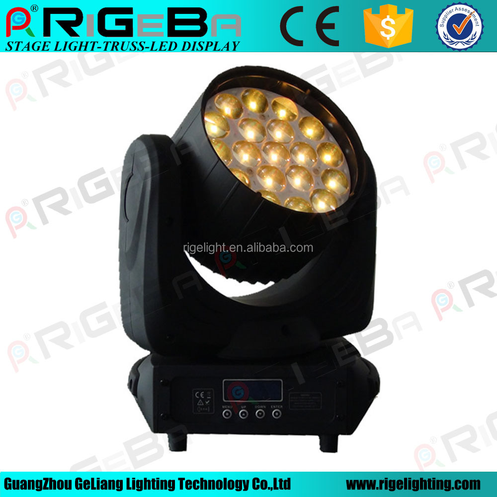 Guangzhou 19*12W 4in1 DMX zoom wash led moving head