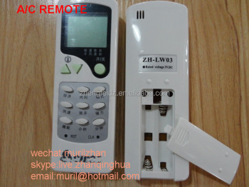 High Quality White 12 Keys New Air Conditioning Remote Control Zh ...